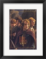 Framed Lord of the Rings: Fellowship of the Ring Hobbits