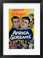 Framed Abbott and Costello, Africa Screams, c.1949 - style A