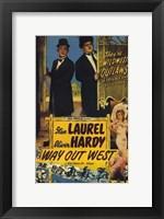 Framed Way Out West Laurel Hardy
