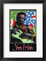 Framed Jimi Hendrix