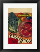 Framed Laurel and Hardy's Laughing 20'S