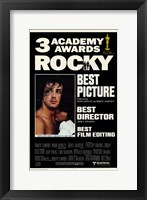 Framed Rocky 3 Academy Awards