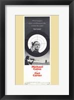 Framed Get Carter Bullseye Tall