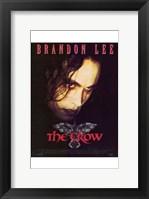 Framed Crow Brandon Lee