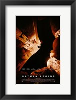 Framed Batman Begins Bat Logo