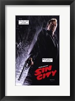 Framed Sin City Bruce Willis as Hartigan