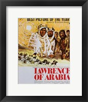 Framed Lawrence of Arabia Drawing