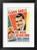 Framed No Man of Her Own With Gable And Lombard