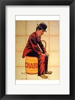 Framed Charlie Chaplin - sitting