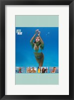 Framed Into the Blue Jessica Alba Swimming