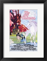 Framed Last Unicorn - Light and dark