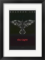 Framed Crow Eyes Brandon Lee