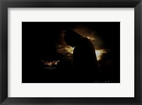 Batman Begins Silhouette Framed Print