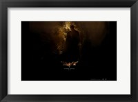 Batman Begins Bats in Cave Framed Print
