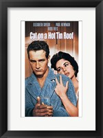 Framed Cat on a Hot Tin Roof Taylor & Newman