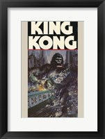 King Kong Crushing Train II Framed Print
