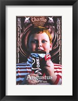 Framed Charlie and the Chocolate Factory Augustus