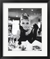 Framed Audrey Hepburn - Breakfast at Tiffany's