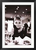 Framed Audrey Hepburn-Breakfast at Tiffany's