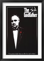 Framed Godfather - Red Rose