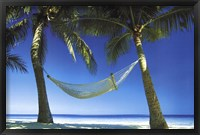 Framed Paradise Beach Scene