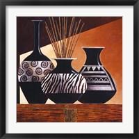 Patterns in Ebony I Framed Print