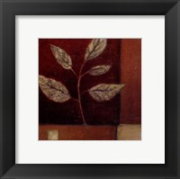 Framed Crimson Leaf Study I