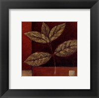 Framed Crimson Leaf Study II
