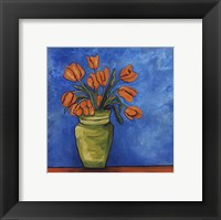 Framed Orange Tulips