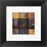 Iris Nine Patch Framed Print