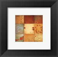 Poppy Nine Patch Framed Print