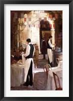 Framed Two Waiters, Place des Vosges