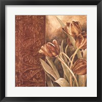 Framed Copper Tulips I