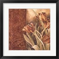 Copper Tulips I Framed Print