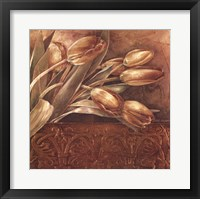 Framed Copper Tulips II