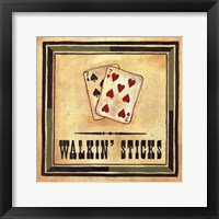 Walkin' Sticks Framed Print