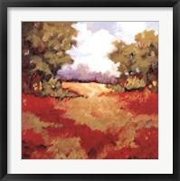Scarlet Fields II Framed Print