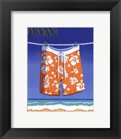 Beach Bound - Boardshorts Framed Print