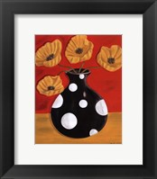 Framed Polka Dot Poppies