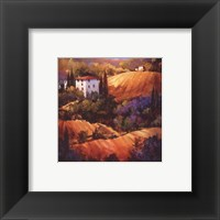 Evening Glow Tuscany Framed Print