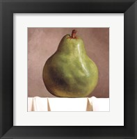 Green Pear Framed Print