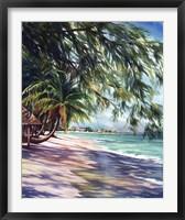 Shady Beach Framed Print