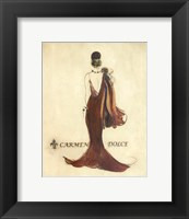 Glamour Collection IV Framed Print