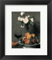 Framed Roses Fruits Et Verre De Vin
