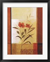 Framed Two Red Flowers