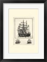 Framed Antique Ships II