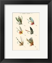 Lake Flies I Framed Print