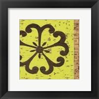 Framed Key Lime Rosette III