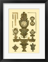 Framed Antique Decorative Clock I