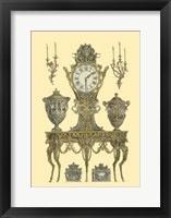 Framed Antique Decorative Clock II